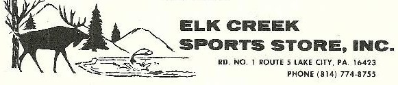 Elk Creek Sports Store Inc. Lake City PA 16423